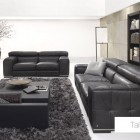 Glamours Living Room Leather Sofa Set