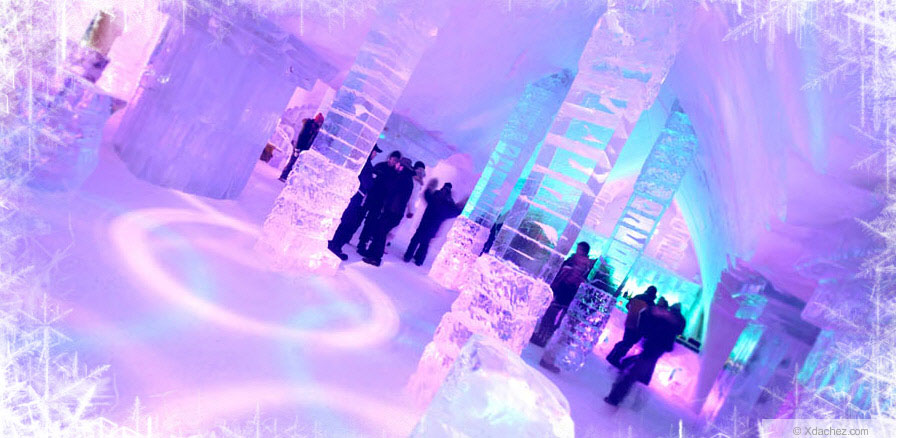Great Lighting Ice Hotel Lobby