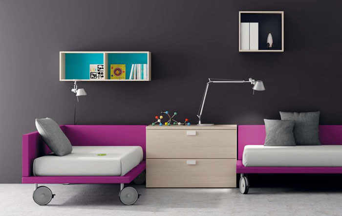 Purple and Gray Kids Room 700 x 442