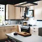 IKEA Kitchen Design With Wooden Cabinet
