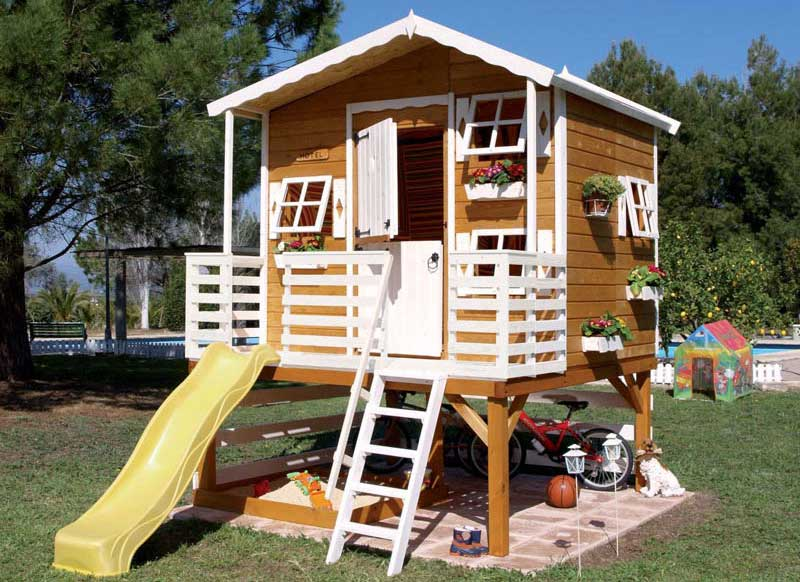 Kids play house in the yard interior design ideas for Outdoor play house for kids
