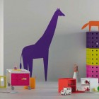 Kids Room Study Desk with Cartoon Wallpaper