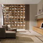 Living Room Home Library Design Ideas