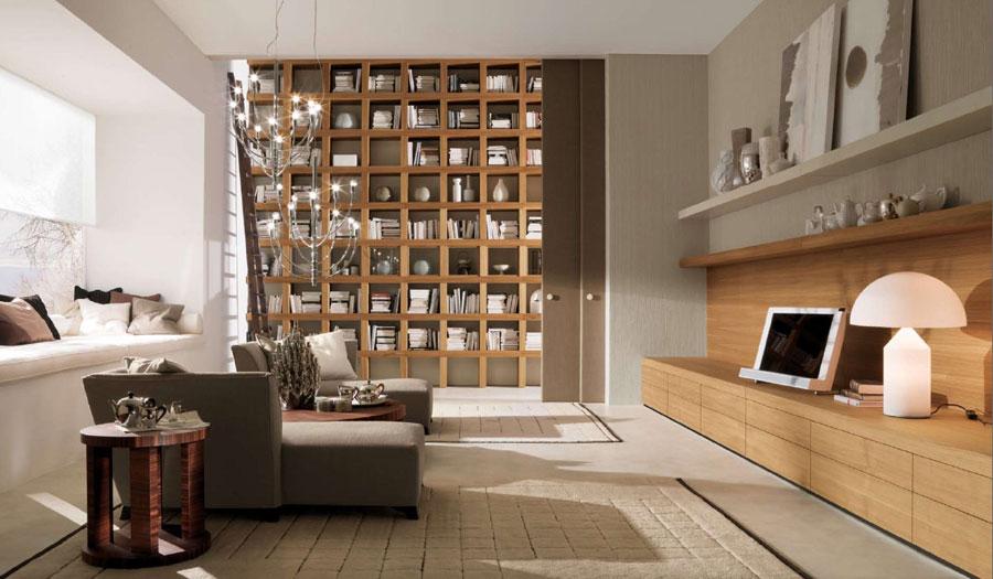 Living Room Home Library Design Ideas