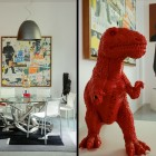 Loft Dining Room with Dinosaurs Display