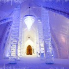 Luxury Chandelier Ice Hotel Decorating
