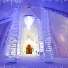 Luxury Chandelier Ice Hotel Decorating