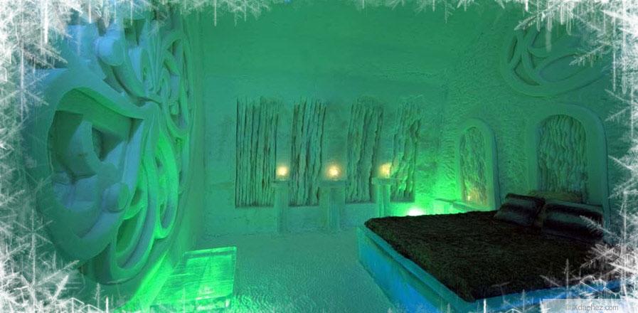 Luxury Ice Hotel Bedroom