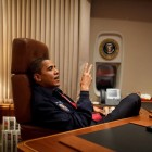 Main Desk Barack Obama President in Air Force One