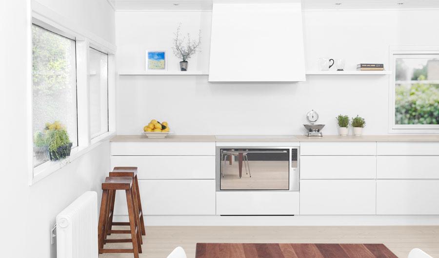 Minimalist White Kitchen Design With Scandinavian Touches