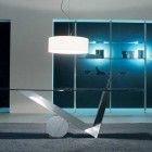 Minimalistic Glass Top Dining Table Design 2011