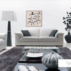 Minimalistic Living Room Leather Sofa Set