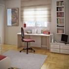 Minimalistic White and Wood Workspace Design