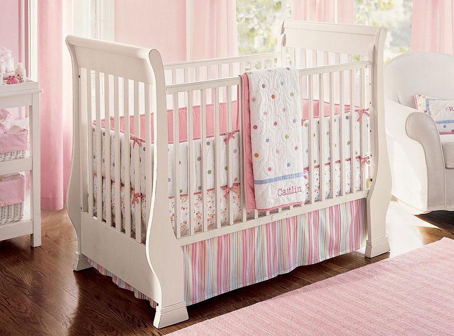 Beautiful pink baby crib design ideas bedroom design ideas interior design ideas - Modern baby girl crib bedding ...