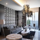 Modern Black Guest Living Room China Decor