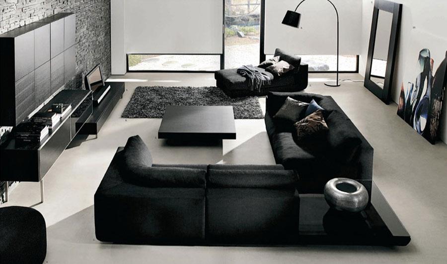 Modern Black White Living Room Decoration