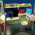 Modern Buknbeds wit Study Desk for Kids