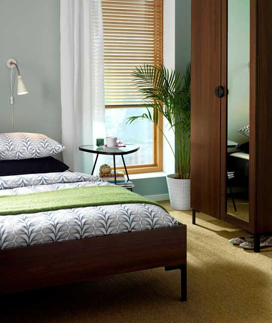 Simple Modern Ideas For Small Living Rooms To Fool The Eyes: Best IKEA Bedroom Design Ideas