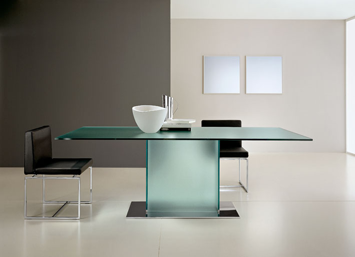 Modern Glass Box Dining Table Design Ideas 2011