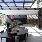 Modern Glass Ceiling Dining Room Design Ideas