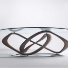 Modern Glass Top Dining Table with Unique Buffer
