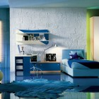 Modern Kids Bedroom with Block Wall Decor