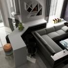 Modern Living Room Purple Wallpaper Design
