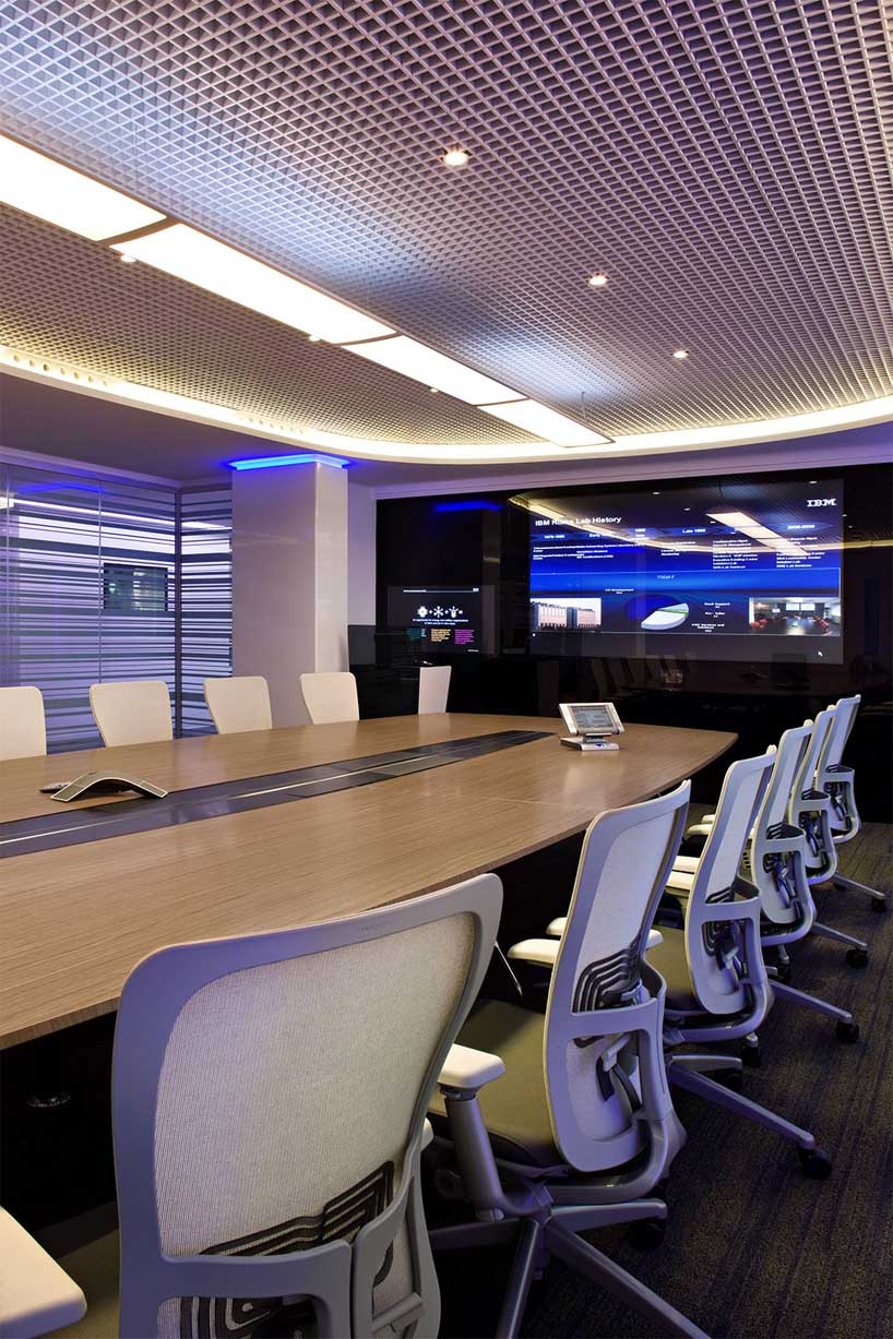 Office Room Design Software: Modern Meeting And Presentation Room With Large LCD