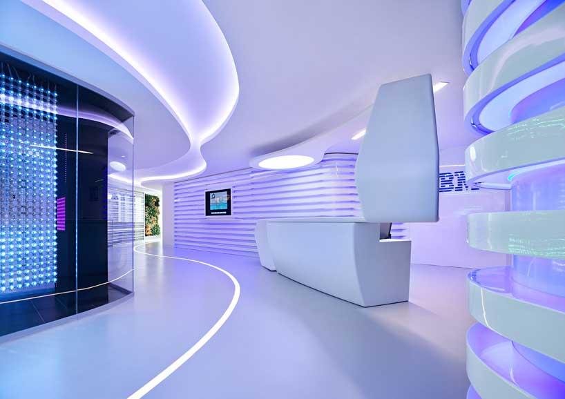 ... Office Modern Reception Table IBM Office – Home Design Ideas