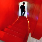 Modern Red Stairs Design