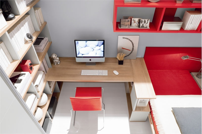 Modern Red and White Teen Room Design 2011