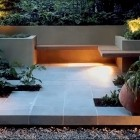 Modern Roof Garden Patio with Wrap Around Bench