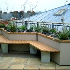 Modern Rooftop Deck Beautiful Plants Rock Garden