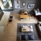 Modern Study Workspace with Cinder Block Wall Decor