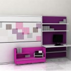 Modern Violet and Purple Teen Bedroom For Small Space