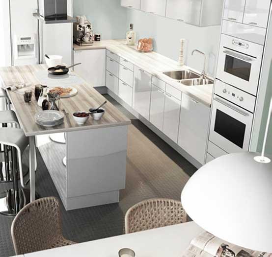 Modern White Ktchen Design From IKEA