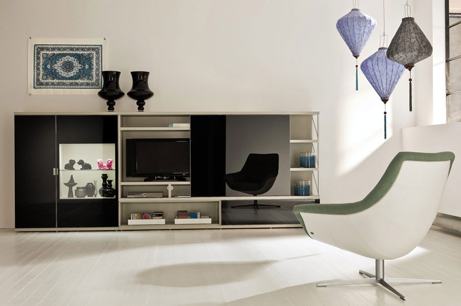 Modern White Living Room Displays Cultural Context