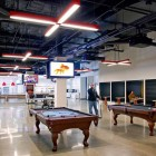 New AOL Creative Office Lounge with Pool Table