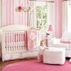 Nice Pink Bedding for Pretty Girls Nursery from Pottery Barn