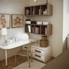 Modern and Beige Small Workspace Decor