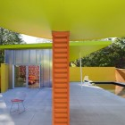 Orange Concrete Poles Shelter Island Pavilion
