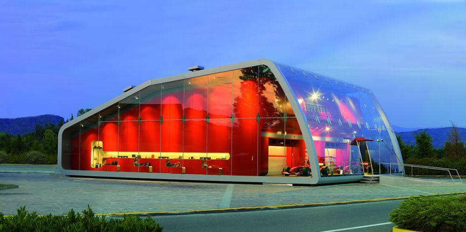 Outstanding Lighting Ferrari Factory Store
