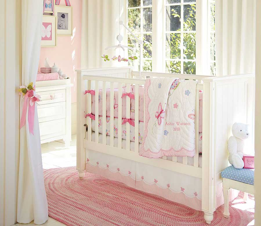 Pink baby crib design inspirations interior design ideas for Baby cradle decoration ideas