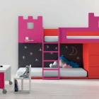 Pink Study Kids and Bunk Beds Furniture