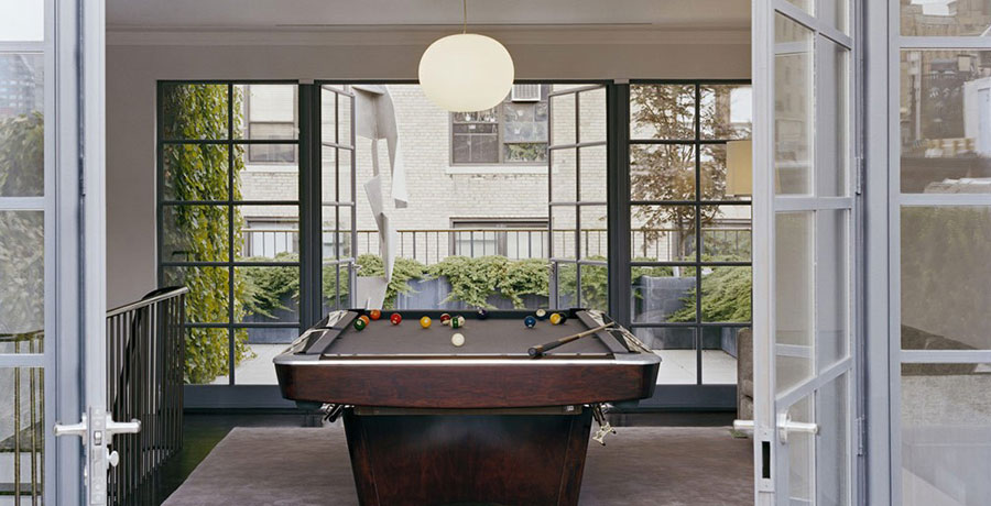 Pool Table Leads to Rooftop Urban Garden