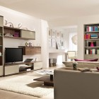 Pop Out Color Living Room Artful Lighting Scheme