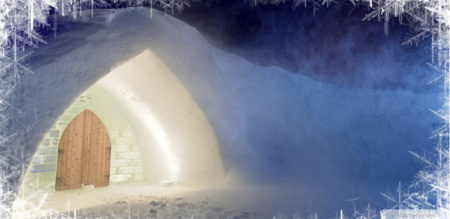 Private Bedroom Design ice Hotel Quebec