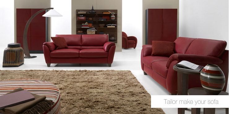 2011  Red Living Room Sofa With Brown Rug     Home Design Ideas