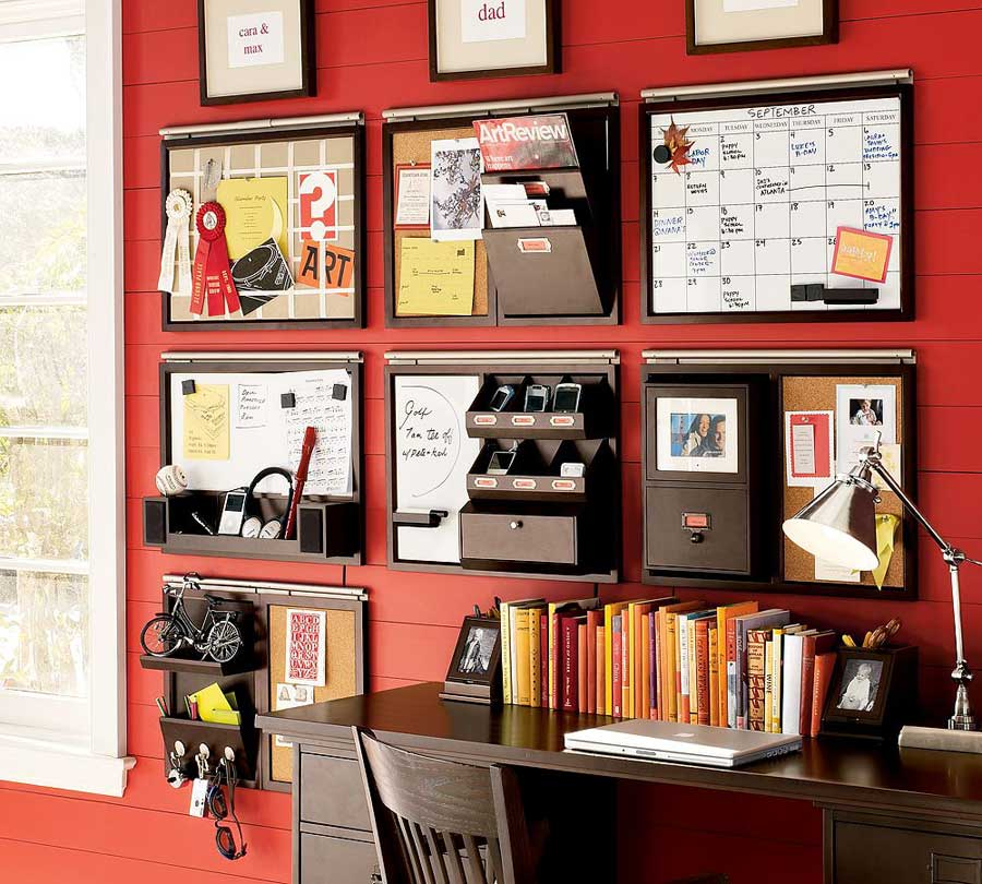 Image 2197 From Post Organizing Your Interior Decorating: Red Stripe Wall Storage Combination