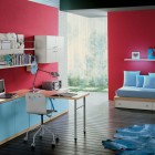 Red and Blue Bedroom for Kids